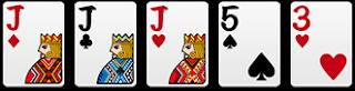 三條:3張相同+2單張