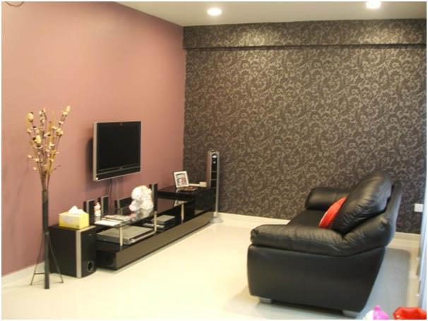 Cat Dinding Ruang Tamu Anda 5 Warna Abu