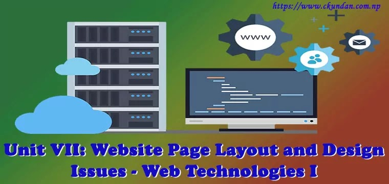 Website Page Layout and Design Issues - Web Technologies I