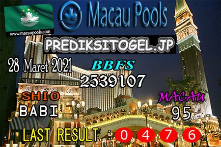 Prediksi Wangsit Togel Macau Minggu 28 Maret 2021