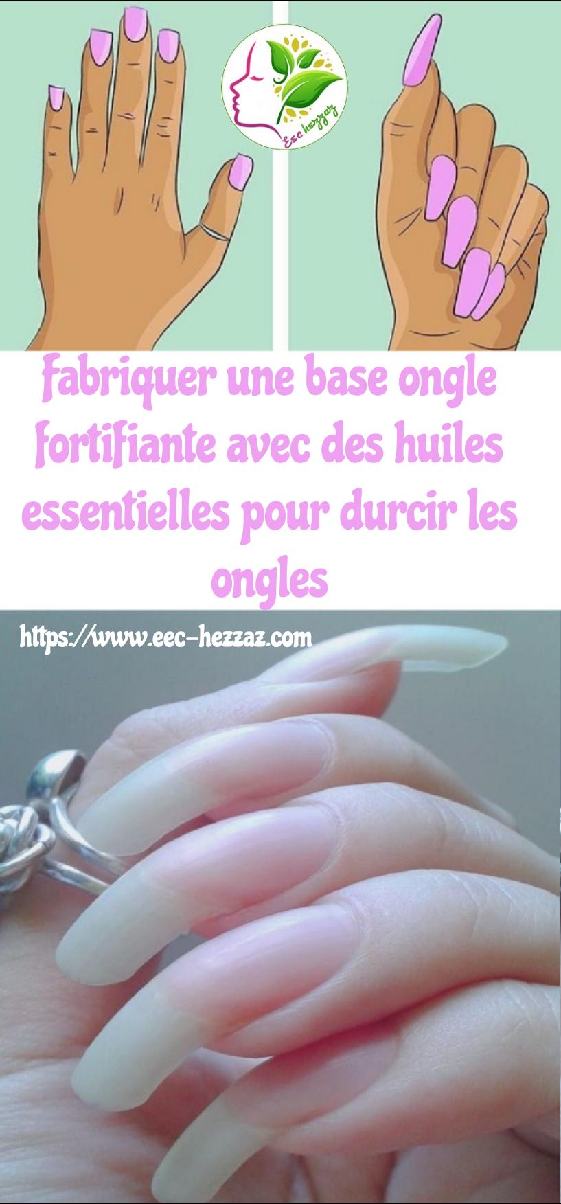 Fabriquer une base ongle fortifiante avec des huiles essentielles pour durcir les ongles