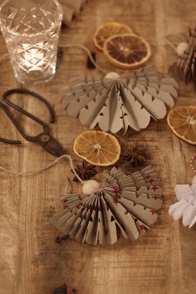 joulukoristeet, diy, paperienkeli, kuivatut appelsiinit, christmasdecor, paperangel, joulu, koristelu