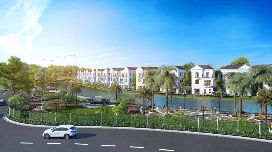 Cảnh quan xanh dự án khu đô thị Thanh Hà