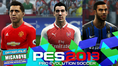 PES 2013 Next Season Patch 2017/2018 Option File Update 23/01/2018
