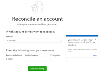 Reconcile - Opening Screen