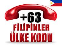 +63 Filipinler ülke telefon kodu
