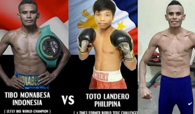 Tibo Monabesa Petinju Indonesia Duel Lawan Toto Landero Petinju Filipina Nanti Malam