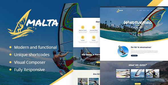 Download Malta v1.1.2 – Windsurfing, Kitesurfing & Wakesurfing Center Theme