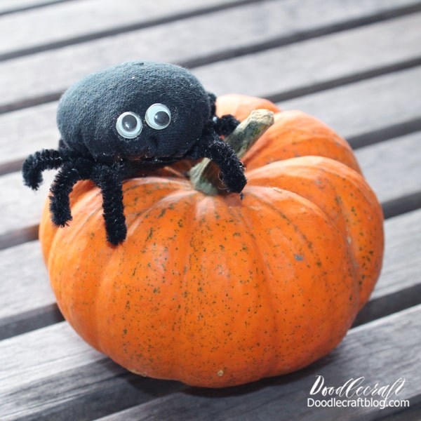 I was thrilled when I made this cute little spider. This one is simple with short legs and only one body part...but it's perfect for beginners.