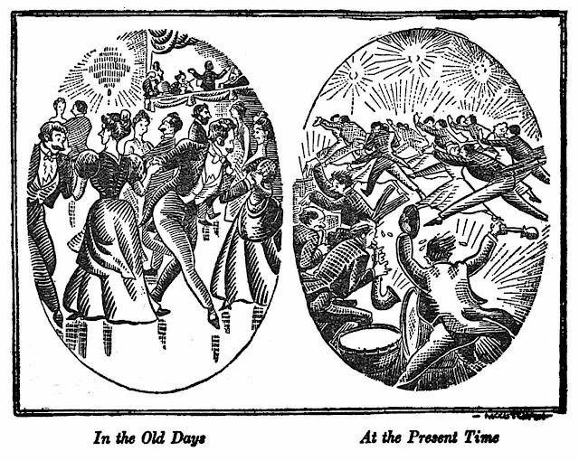 a John P. McCutcheon cartoon about modern dancing