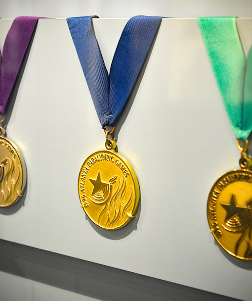 1996 Paralympic Medals | Atlanta History Center | Photo: Travis Swann Taylor