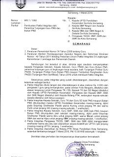 Download Pakta Integritas Guru Penerima Tunjangan PNS Dan NON PNS Tahun 2016