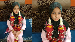 समाजसेवी आजम राही की बेटी अलीजा फातिमा ने रखा पहला रोजा