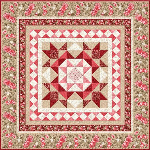 Rhapsody In Reds Quilt designed by Kaye England for Wilmington Prints