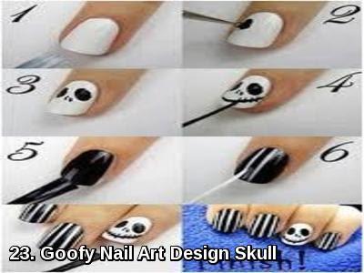 Goofy Nail Art Design Skull