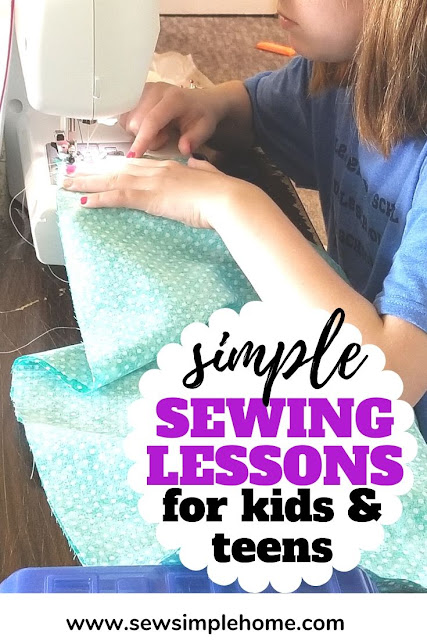 Teaching kids to sew benefits them with better math skills and more confidence.  Use these sewing lessons to help your child learn to sew.