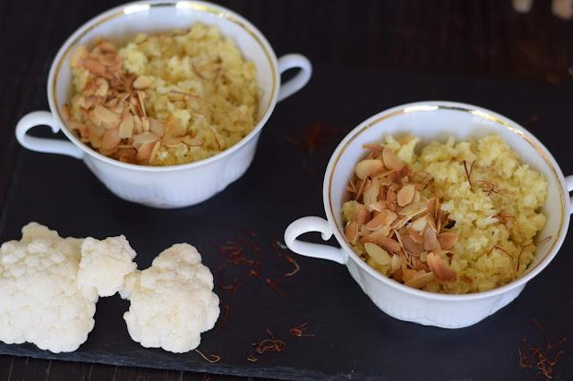receta de cus cus de coliflor al azafran
