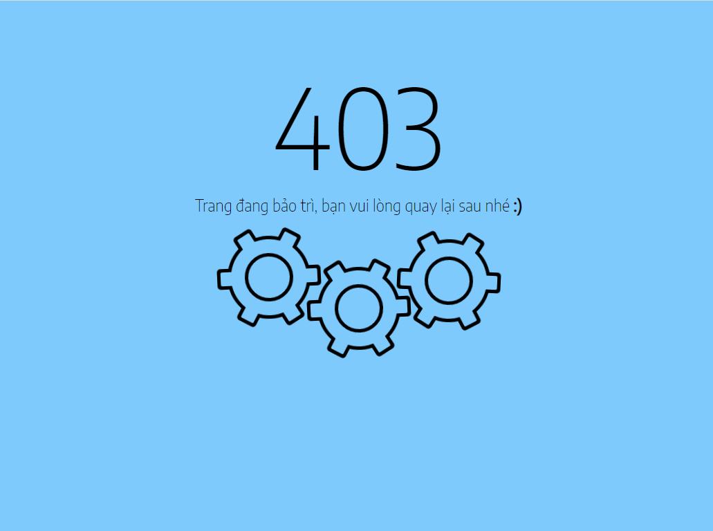Cách tạo và chuyển hướng trang chính sang trang 403 cho Blogspot 2020