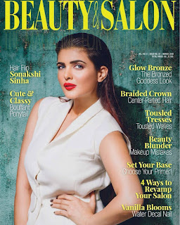 Ihana Dhillon on the cover page of Beauty & Salon magazine