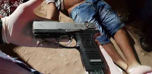 pistola calibre 9mm da marca Ruger.
