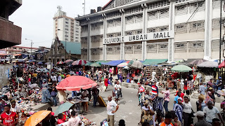 Dirty and overcrowded in Lagos Island