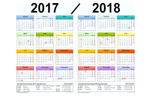 Kalender Pendidikan tahuan 2017-2018