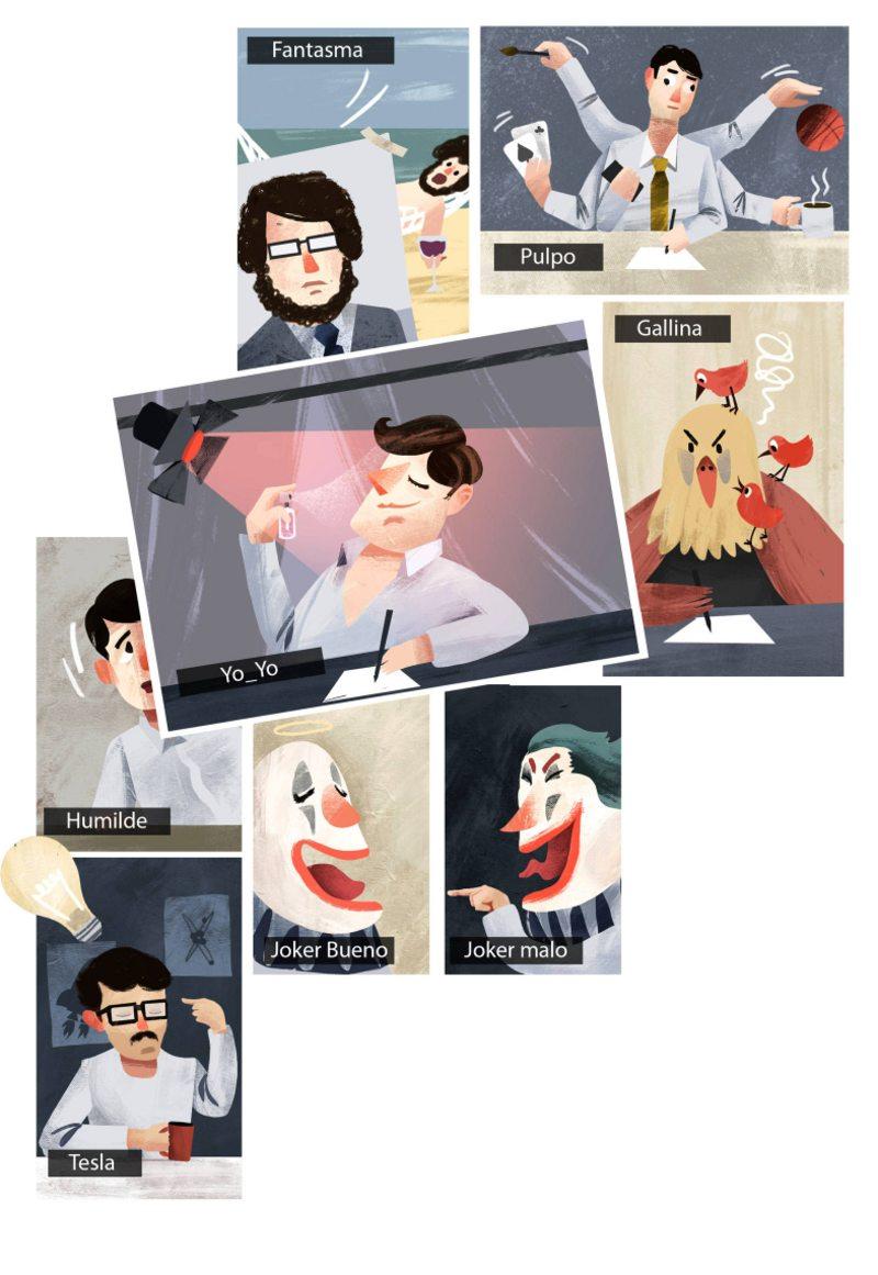 10 tipos de personalidades que surgen  en una videoconferencia