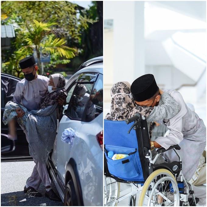 """""""Semua hadir berlinang air mata"""" Jurufoto Kongsi Detik Sebak Pengantin Dukung Ibu Ke Masjid"""