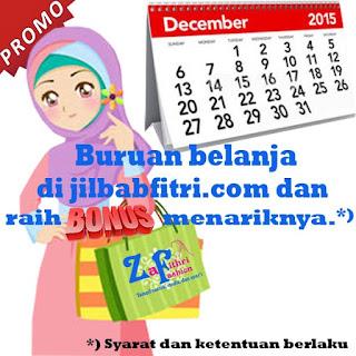 Belanja Jilbab dan Dapatkan Bonus Spesial Bulan Desember