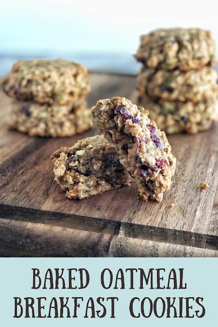 Baked Oatmeal Breakfast Cookies