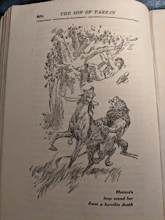 Meriem, attacked by a lion, jumps from her horse into a tree.
