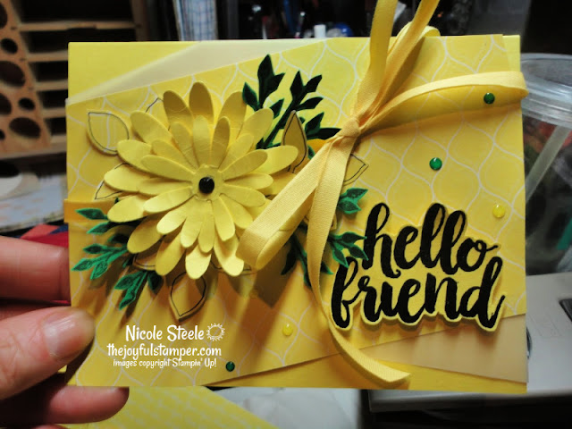 pineapple punch | stampin' up! in colors | thinking of you card | daisy punch | nicole steele the joyful stamper