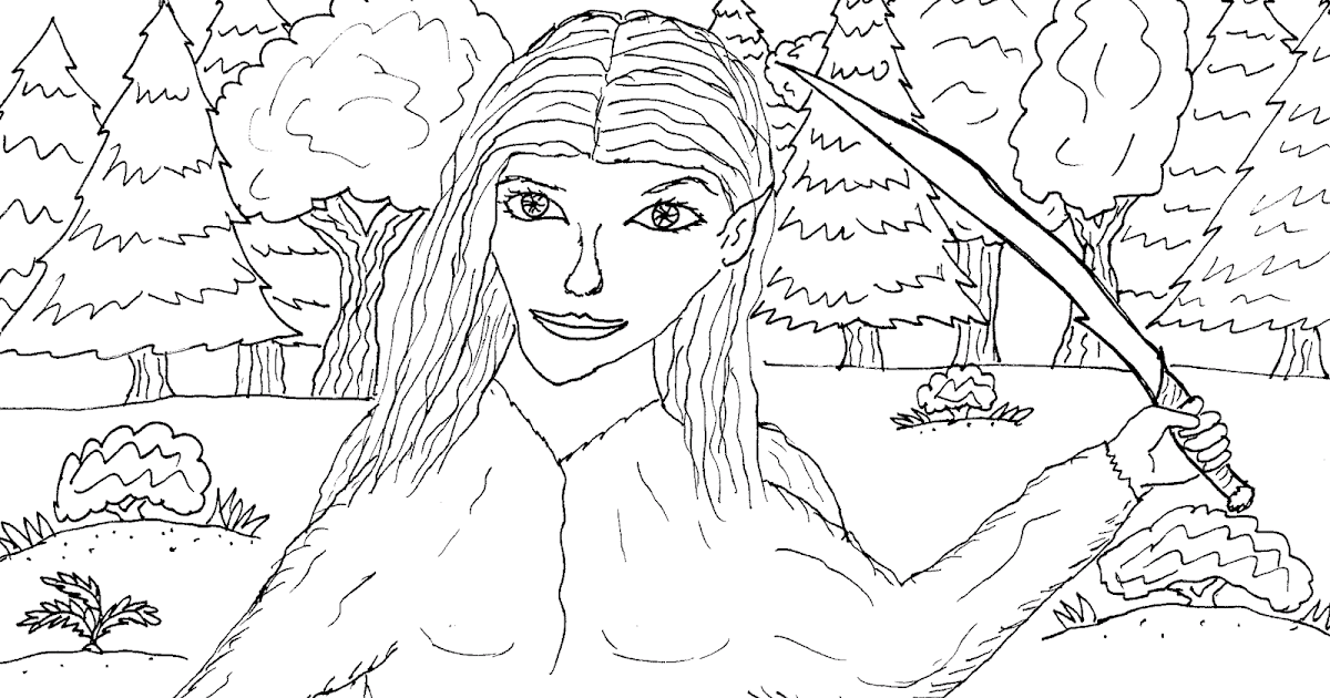 Robin's Great Coloring Pages: Elf Warrior Princess Tori