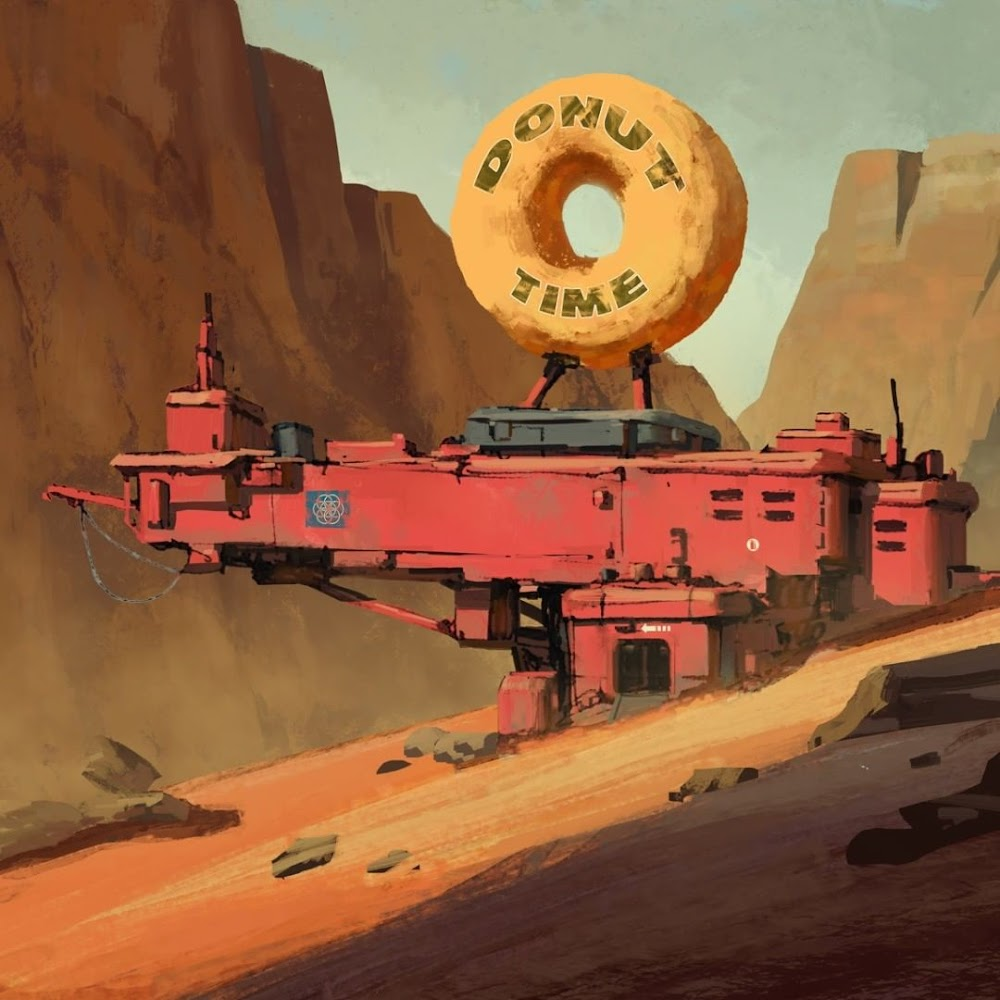 Donut cafe on Mars by Natalia Babiy