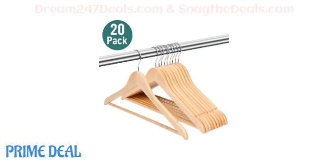 40% OFF Premium Lotus Wood Hangers--20pack