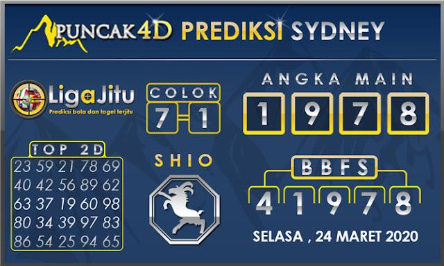 PREDIKSI TOGEL SYDNEY PUNCAK4D 24 MARET 2020