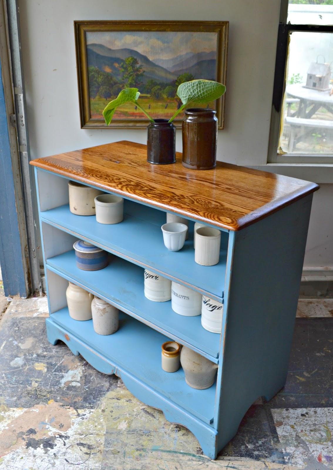 Heir and Space: An Antique Oak Dresser Turned Bookshelf