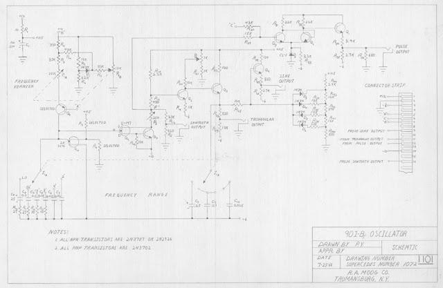 MATRIXSYNTH: Vintage Moog Schematics Hand Drawn by Bob Moog ... on