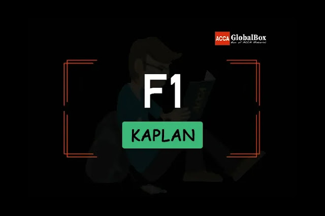 F1 - KAPLAN Exam Kits, Accaglobalbox, acca globalbox, acca global box, accajukebox, acca jukebox, acca juke box,