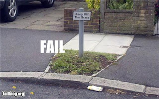 keep off the grass, council waste of money