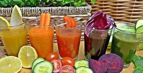 desayuno de zumo de verduras