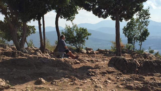 A photo of me in prayer, resting and reflecting at the peak of Cross Mountain