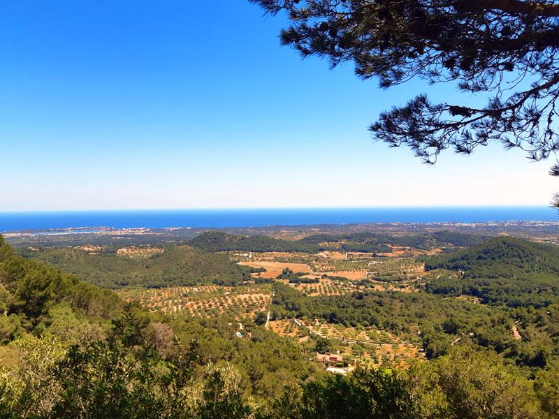 Vista dal Castell de Santueri a Maiorca