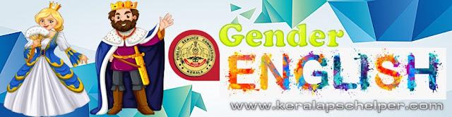 Kerala PSC English Questions - Gender Part - 1