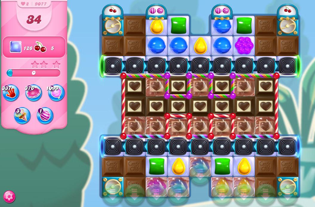 Candy Crush Saga level 9077
