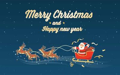 gambar ucapan selamat natal dan tahun baru 2021
