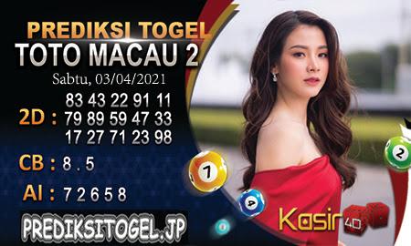 Prediksi Kasir4D Togel Macau Sabtu 03 April 2021