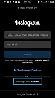 Membuat akun instagram baru-1