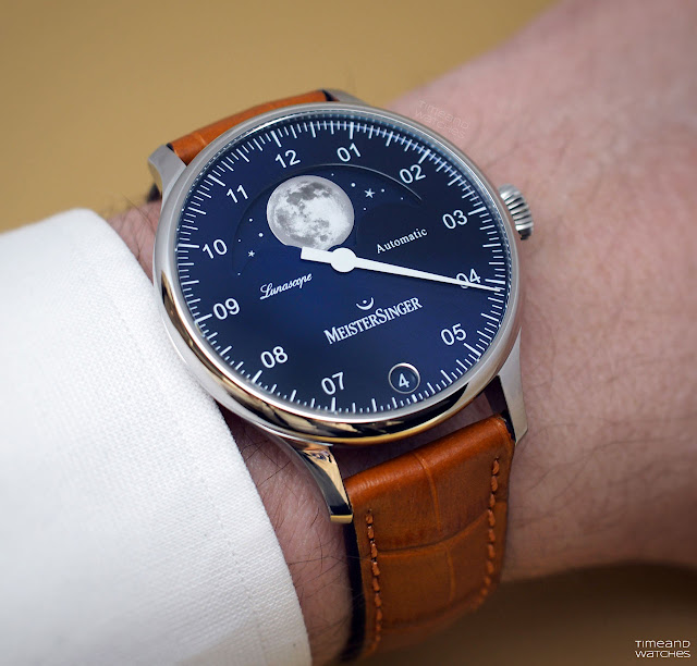 MeisterSinger Lunascopewith moon phase display
