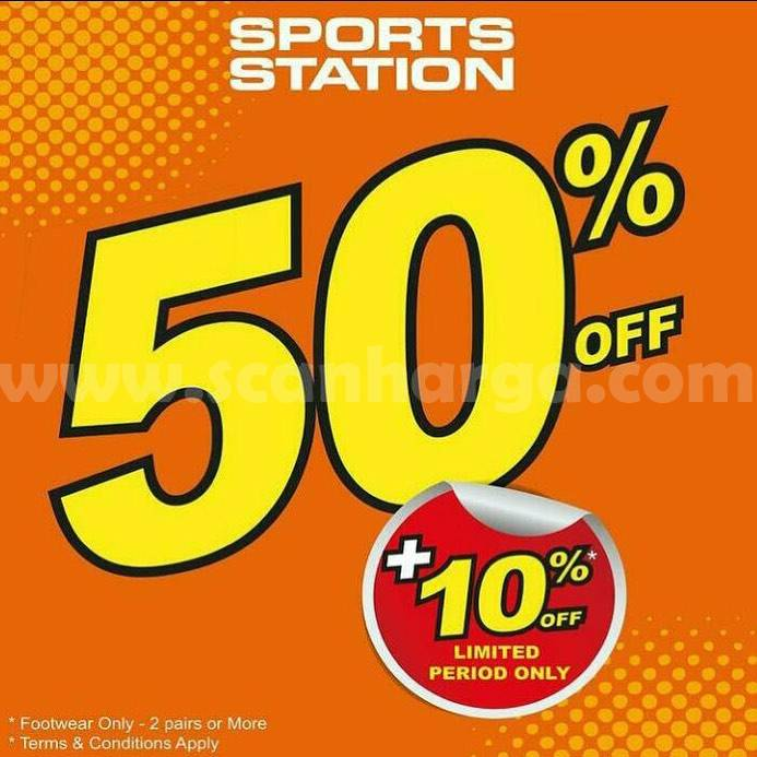 Sports Station Promo Diskon 50% off + 10% Off*